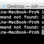 zsh: command not found in mac